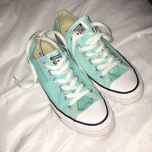 Mint Green Low Top Converse